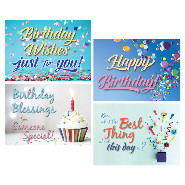 Lets party boxed cards birthday pack of 12 bookmarktalkfo Choice Image