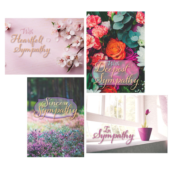 Boxed greeting cards christian greeting cards get well cards deepest sympathy box 12 m4hsunfo