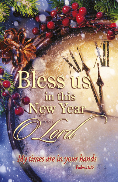 Church Bulletin 11 Quot New Year Bless Us Pack Of 100