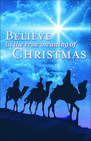 Church Bulletin 11 Quot Christmas Believe Pack Of 100