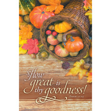 Church Bulletin 11 Fall Thanksgiving Rejoice Evermore Pack Of 100