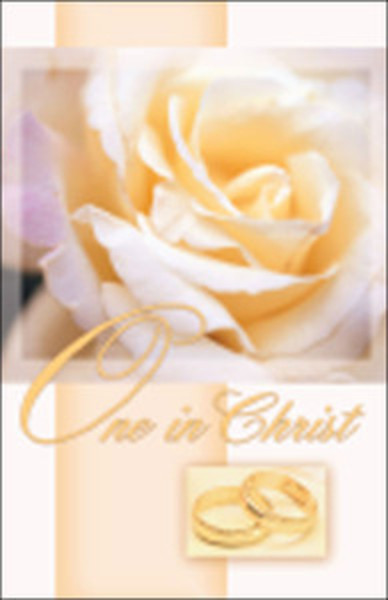church bulletin 11 wedding one in christ pack of 100