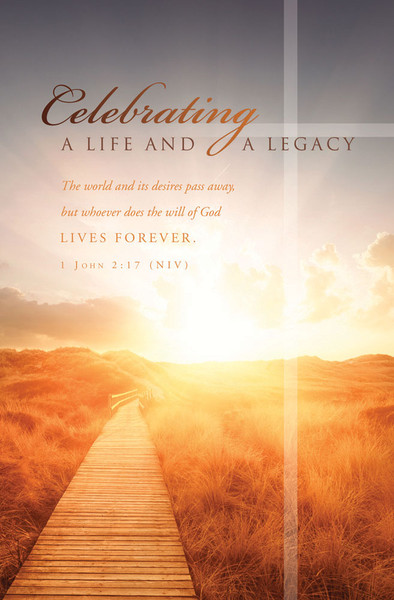 Church Bulletin 11 Quot Funeral Celebrating Pack Of 100