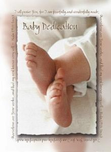 Baby Dedication Certificate Pkg Of