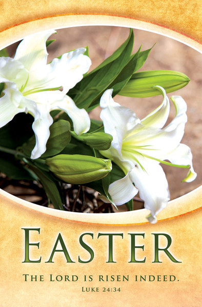 Church Bulletin 11 Quot Easter Risen Indeed Pack Of 100