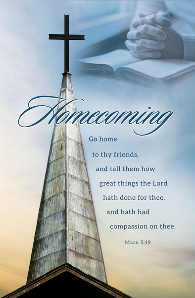 Church Bulletin 11 Quot Homecoming Mark 5 19 Pack Of 100