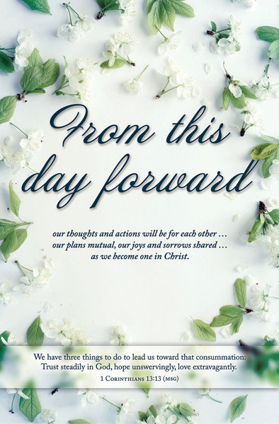 church bulletin 11 wedding this day forward pack of 100
