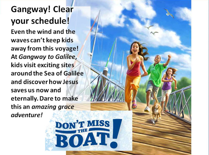 gangway to galilee coloring pages - photo#38