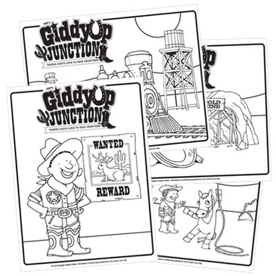 GiddyUp Junction Coloring Pages