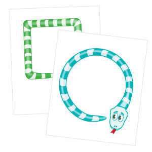 Roar Snake Shapes for Preschoolers