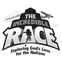 Incredible Race VBS B&W Secondary Logo