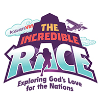 Incredible Race VBS Color Secondary Logo