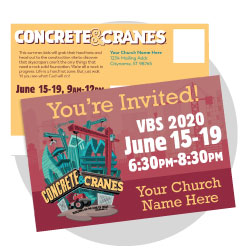 Concrete & Cranes Custom Postcards