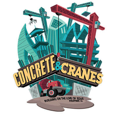 Concrete & Cranes 4 Color Logo