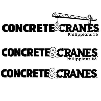 Concrete & Cranes Words Logo 2