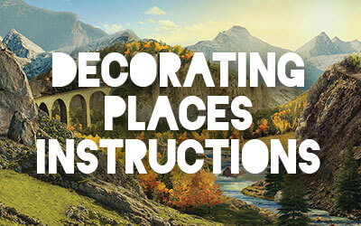 Rocky Railway Decorating Places Instructions