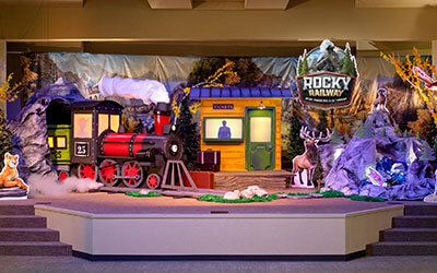 Rocky Railway Decorating Stage