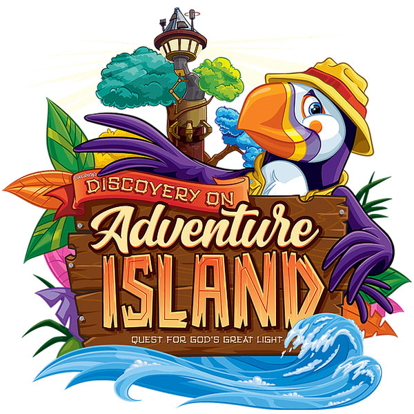 Discovery on Adventure Island VBS Logo