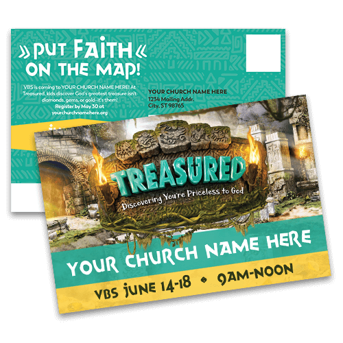 Treasured VBS 2021 Postcards
