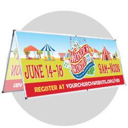 Wonder World Funfest Custom Banners