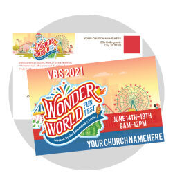 Wonder World Funfest Custom Postcards