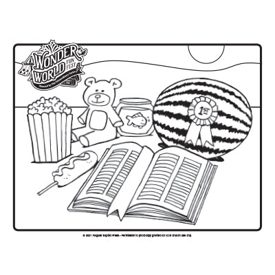 Wonder World Funfest Coloring Pages